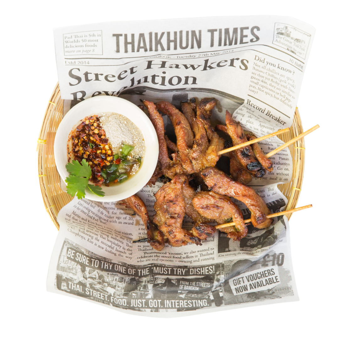 Thaikhun Thai street food pork skewers