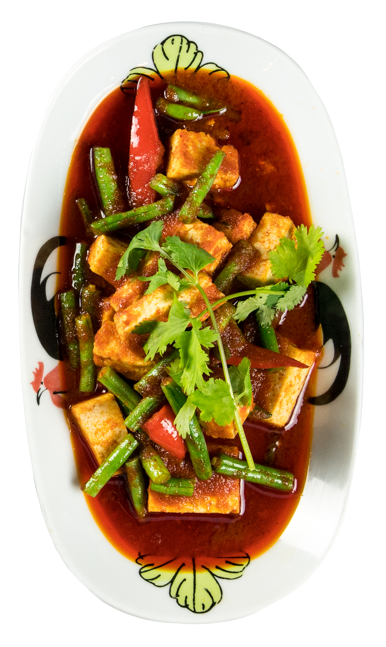 Thaikhun Thai street food tofu in red curry sauce