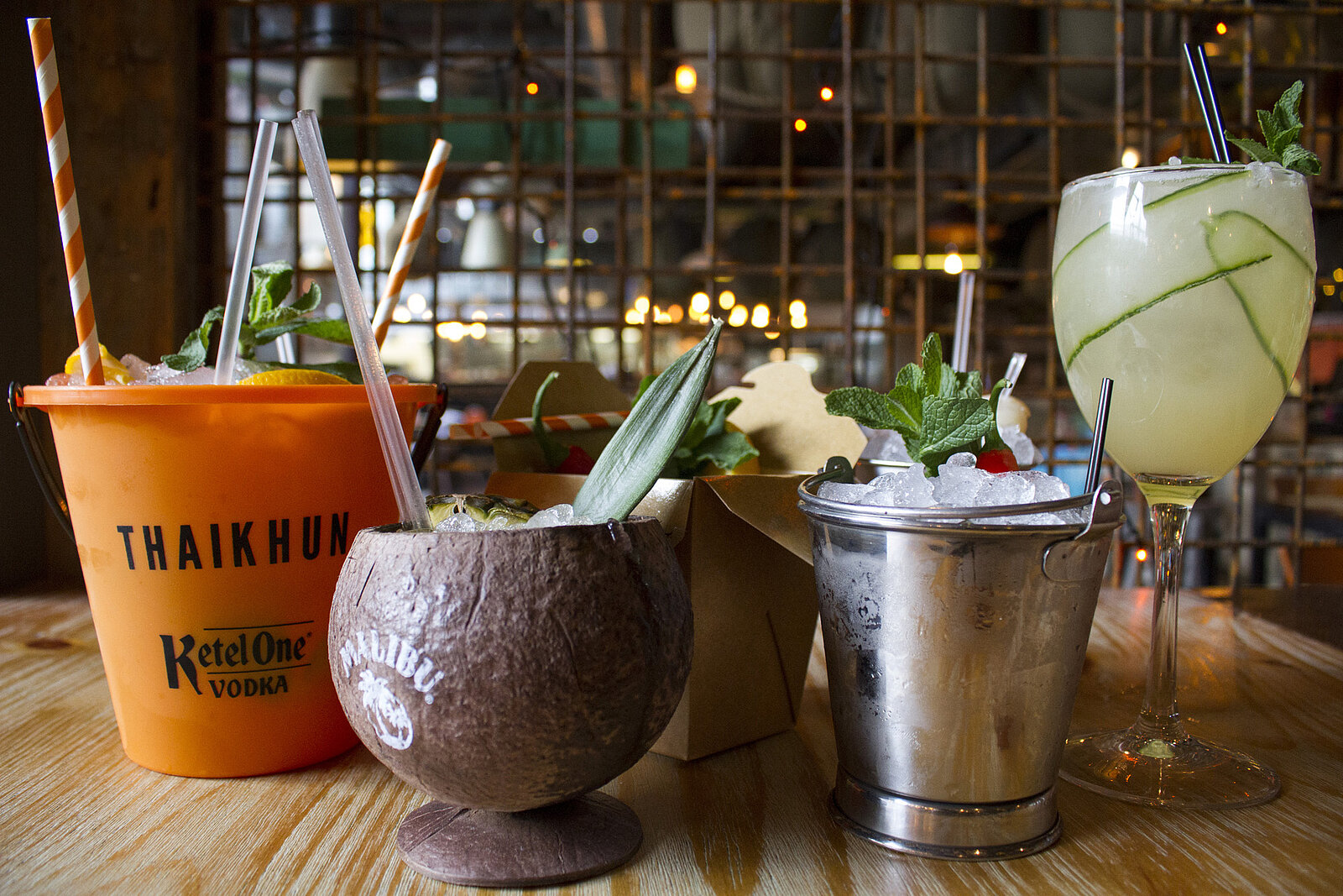 Thaikhun Thai street food cocktails