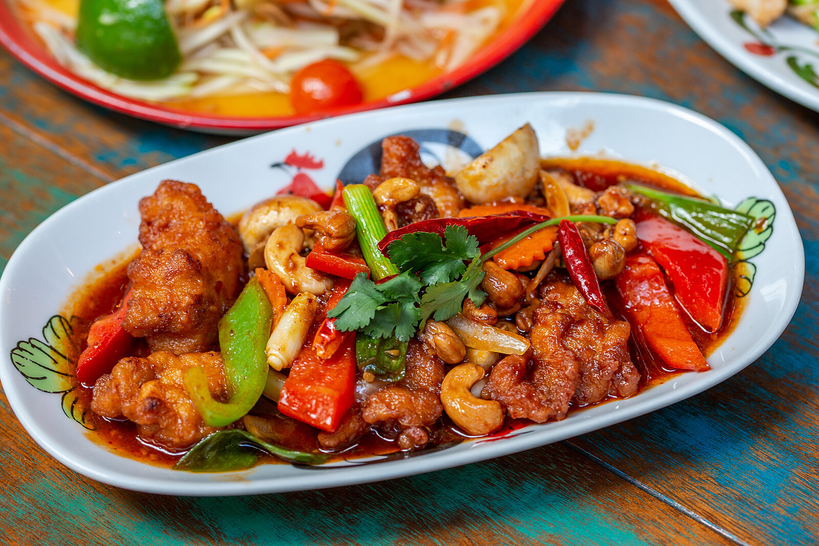 Thaikhun Thai street food chicken cashew nuts